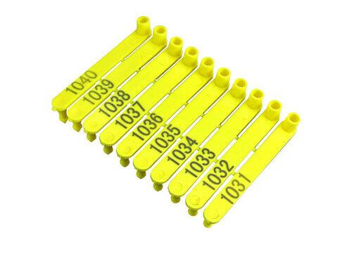 Yellow Sheep Ear Tags