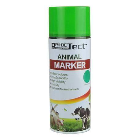 green spray marker